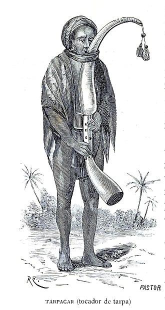 Warli painting - Image: Tarpa player