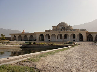 Kholm, Afghanistan - Palace in Tashkurgan in the Indian colonial style, late 19th century.