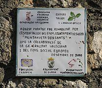 Taulell informatiu a la Muntanyeta dels Sants (País Valencià).jpg