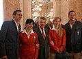 Team Austria - Olympic Games 2012 - reception at Hofburg c23 track and field athletes, Heinz Fischer.jpg