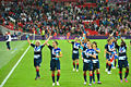 Team GB celebrating, women's football.jpg