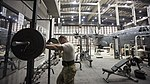Tech. Sgt. Jason Caswell prepares to lift weights (32044655660).jpg