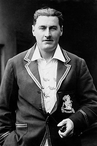 Ted Bowley - Bowley wearing his blazer from the 1930 tour of New Zealand