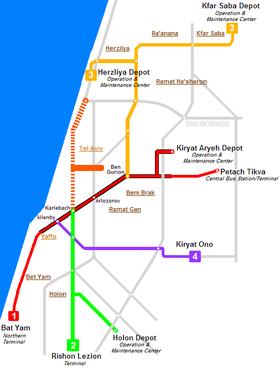 Mtro lger de Tel Aviv Wikipdia