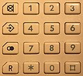Telephone Alcatel 2514, as seen in September 2017 in a German Hotel (keypad).jpg