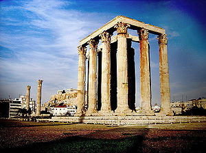 The Temple of Olympian Zeus, Athens.