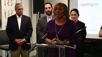 File:Terri Marsh represents 34th Ward Alderman Carrie Austin at Envision Chicago Launch.webm