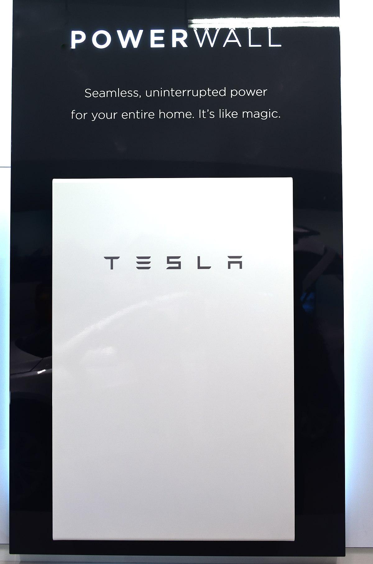 Lithium Ion Battery >> Tesla Powerwall - Wikipedia