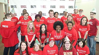 The Current (newspaper) - The 2014–2015 staff of The Current