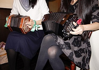 English concertina - English concertina player using all four fingers to play notes