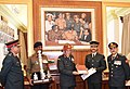 The Chief of Army Staff, General Bipin Rawat felicitating the Madras Engineer Group (MEG) contingent, in New Delhi on February 21, 2017.jpg