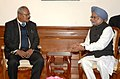 The Deputy Prime Minister, Home and Defence Minister of Nepal, Mr. Bijay Gachhadar calling on the Prime Minister, Dr. Manmohan Singh, in New Delhi on January 18, 2012.jpg