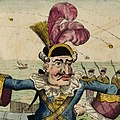 The Duke de Crillon Giving Orders for the Siege of Gibraltar crop caricature.jpg