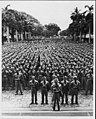 The Japanese-American 442nd Regimental Combat Team stands in formation at Iolani Palace, Hawaii in March 1943.jpg
