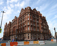 Midland Hotel Manchester From The Junction Of Oxford Street And St Peter S Square