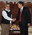The Minister of works, Malaysia, Dato' Shaziman Abu Mansor meeting the Union Minister for Road Transport and Highways, Dr. C.P. Joshi, in New Delhi on February 18, 2011.jpg