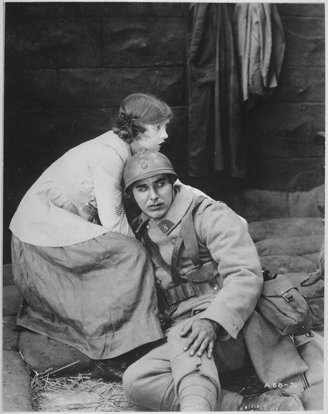"""File:The Motion Picture - A Win-The-War Factor. Dorothy Gish in """"The Greatest Thing in Life"""", a D. W. Griffith Artcraft pictu - NARA - 533725.tif"""