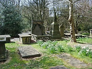 St Peter's Church, Burnley - Tombs in the churchyard of St Peter's