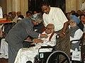 The President, Dr. A.P.J. Abdul Kalam presenting Padma Shri to Shri Dakshinamurthy Pillai (Nadaswaram Vidwan), at an Investiture Ceremony at Rashtrapati Bhavan in New Delhi on March 23, 2007.jpg