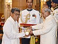 The President, Shri Pranab Mukherjee presenting the Padma Shri Award to Shri Wareppa Naba, at a Civil Investiture Ceremony, at Rashtrapati Bhavan, in New Delhi on March 30, 2017.jpg