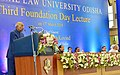 The President, Shri Ram Nath Kovind delivering the Foundation Day Lecture at the National Law University, at Cuttack, in Odisha.jpg