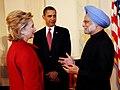 The Prime Minister, Dr. Manmohan Singh with the US President, Mr. Barack Obama, at White House, Washington on November 24, 2009 (2).jpg