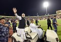 The Prime Minister, Shri Narendra Modi during the Community Event, at Sultan Qaboos Sports Complex, in Muscat, Oman on February 11, 2018 (2).jpg