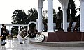 The Prime Minister, Shri Narendra Modi laying wreath at the War Memorial in Indian Military Academy, Dehradun, ahead of the Combined Commanders Conference, on January 21, 2017.jpg