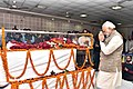 The Prime Minister, Shri Narendra Modi pays tributes at the mortal remains of the former Chief Minister of Madhya Pradesh, Shri Sunder Lal Patwa, in Bhopal, Madhya Pradesh on December 28, 2016 (2).jpg
