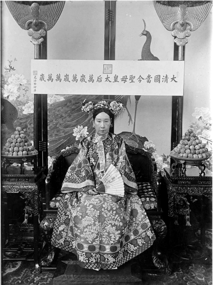 Image:The Qing Dynasty Cixi Imperial Dowager Empress On Throne.PNG