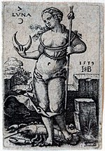 De moan (luna) as heësjer va de kreef - Hans Sebald Beham, 1539