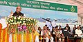 The Union Home Minister, Shri Rajnath Singh addressing the gathering after inaugurating the several projects, at the ITBP 6th Battalion, at Chhapra, in Bihar.JPG
