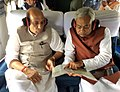 The Union Home Minister, Shri Rajnath Singh undertaking an aerial survey of the cyclone affected districts of Madhepura and Purnia of Bihar with the Chief Minister, Shri Nitish Kumar, on April 24, 2015.jpg