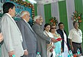 The Vice President, Shri Mohd. Hamid Ansari laying the foundation stone for the Rail Link between Rangpo and Sevok, at a function, in Gangtok, Sikkim on October 30, 2009.jpg