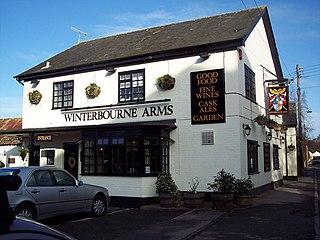 Winterbourne Dauntsey village in United Kingdom