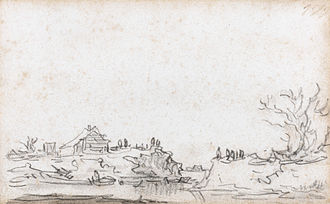 St. Peter's Flood The breach in the dyke at Houtewael (march 1651) by Jan Josefsz van Goyen.jpg