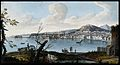 The city and bay of Naples from the land. Coloured etching b Wellcome V0025253.jpg