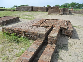 Gujarat - Archaeological remains of washroom drainage system at Lothal.