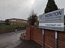 The entrance to Honiton Community College.jpg