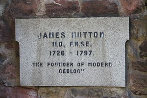 James Hutton - The memorial to James Hutton at his grave in Greyfriars Kirkyard