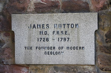 The memorial to James Hutton at his grave in Greyfriars Kirkyard The memorial to James Hutton at his grave in Greyfriars Kirkyard.JPG