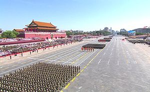 2015 China Victory Day Parade - Soldiers marching in the parade