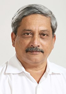 The official photograph of the Union Minister for Defence, Shri Manohar Parrikar.jpg
