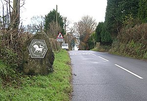 Dartmoor National Park Authority - One of the Authority's signs at the boundary of the Park