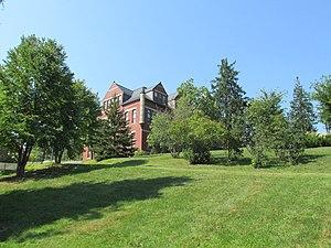 Jesse Hepler Lilac Arboretum - The slope behind Thompson Hall