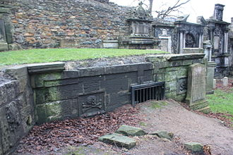 John Baptist Medina - The vault of Sir John Medina, Greyfriars Kirkyard, Edinburgh