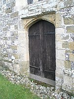 The west door at St Peter's, Racton