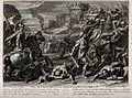 The young Samson excels on the battlefield. Engraving by J.B Wellcome V0034298.jpg