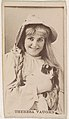 Theresa Vaughn, from the Actresses series (N245) issued by Kinney Brothers to promote Sweet Caporal Cigarettes MET DP859766.jpg