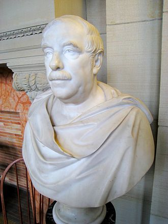 Thomas Gold Appleton - Bust of Thomas Gold Appleton at the Boston Public Library